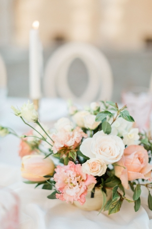 Peach and Pink Wedding Centerpiece