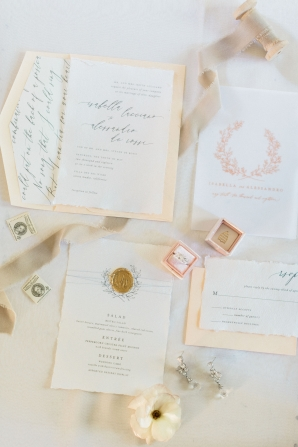 Peach and Pink Wedding Invitations