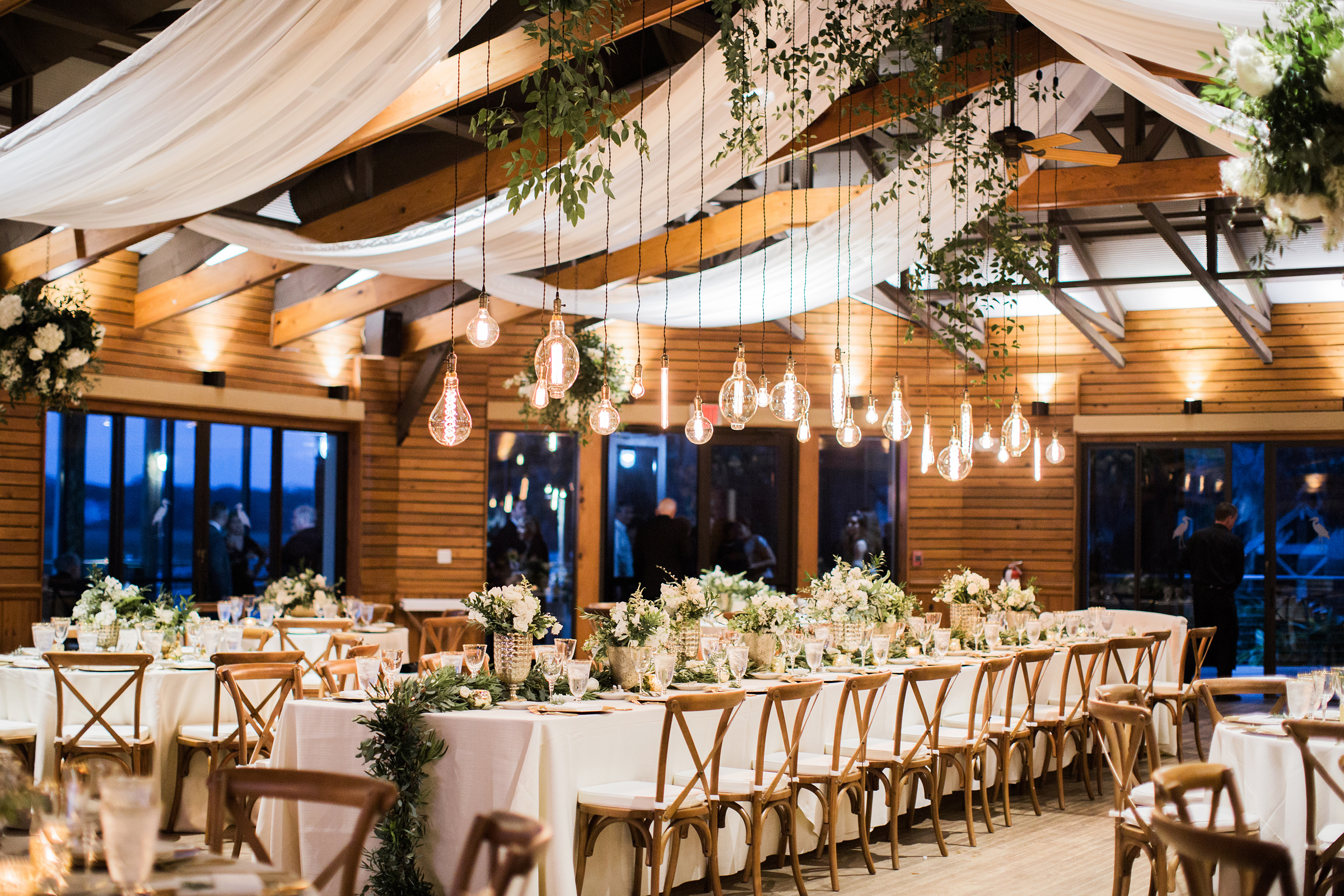 Reception Room with Draping and Greenery