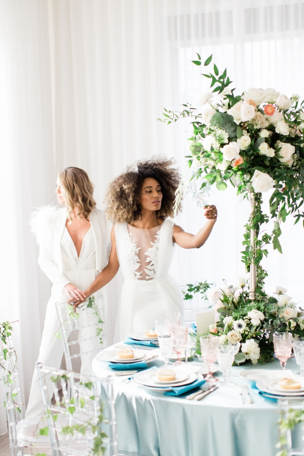 Romantic Modern Chicago Wedding Inspiration Two Brides 1