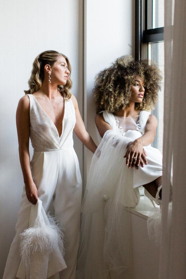 Romantic Modern Chicago Wedding Inspiration Two Brides 5