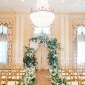 Romantic Wedding Ceremony with Greenery