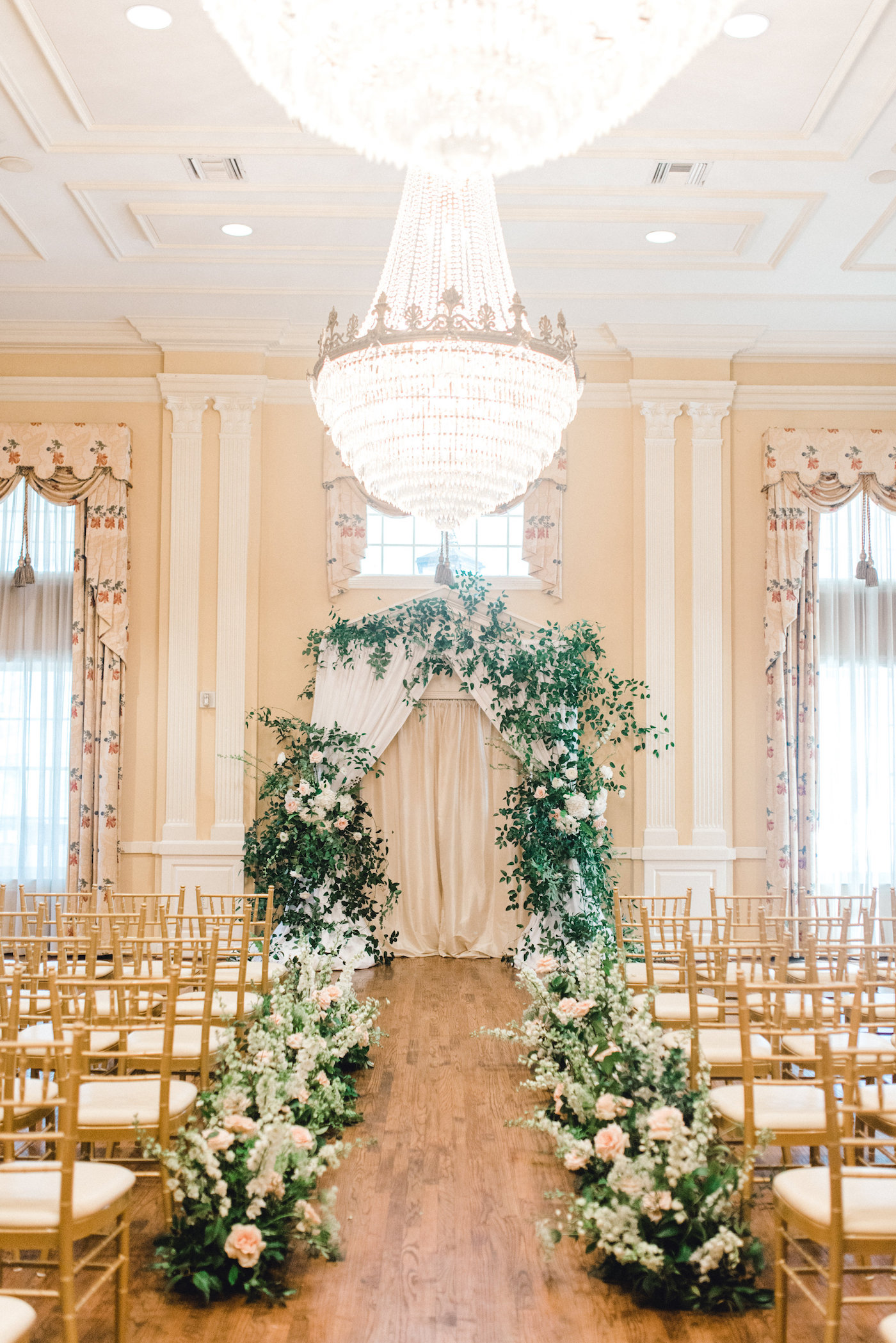 Romantic Wedding Ceremony with Greenery