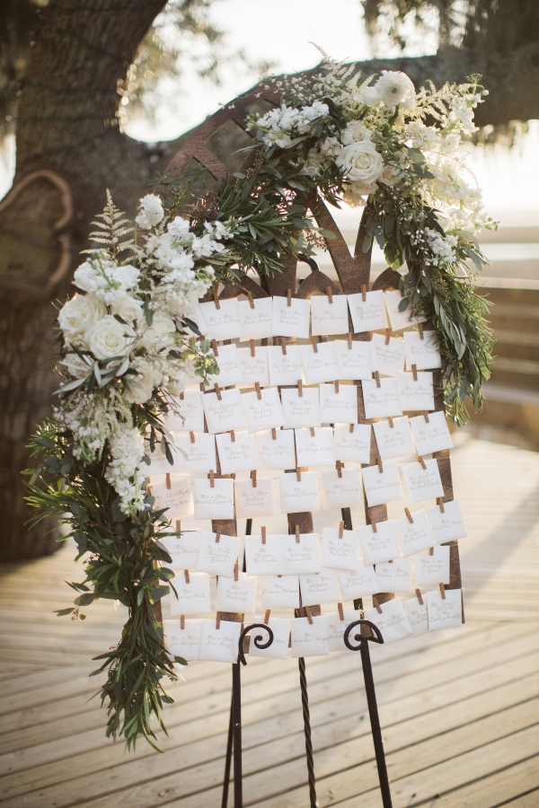 Seating Chart with Floral Detail