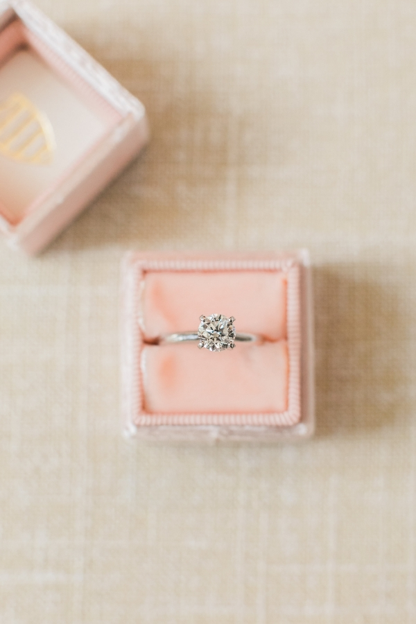 Solitaire in Pink Ring Box