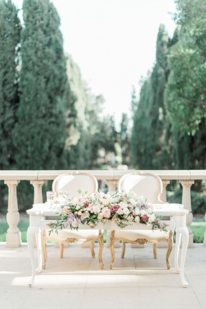 Sweetheart Table for Outdoor Wedding