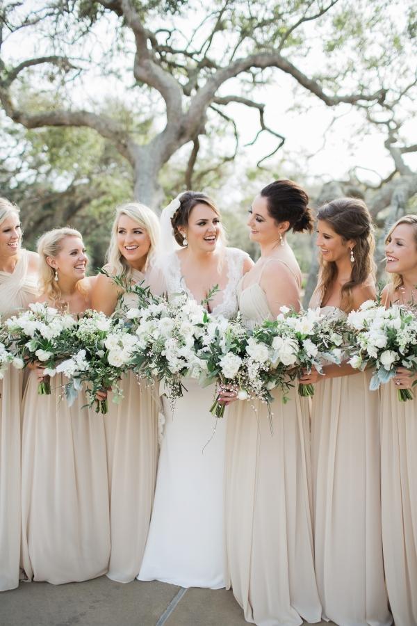 Taupe Bridesmaids Dresses