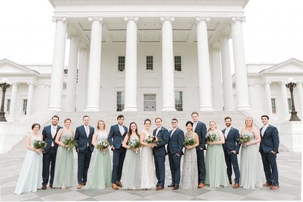 Traditional Virginia Wedding with Pops of Blue10
