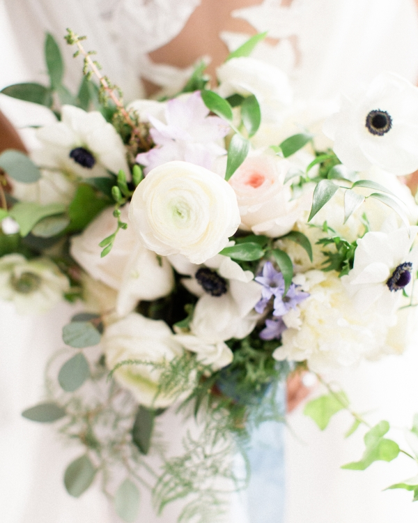 Wedding Bouquet with Anemones