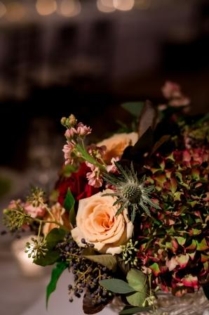 Wedding Centerpices in Dark Colors