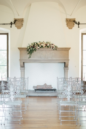 Wedding Ceremony at Mantel Altar