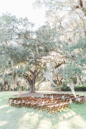 Wedding Ceremony under Charleston Trees