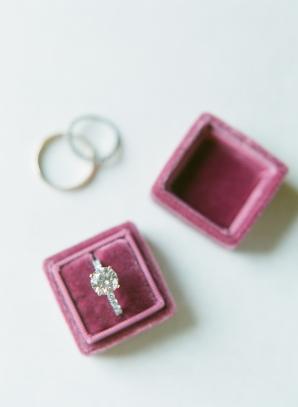 Wedding Ring in Velvet Box
