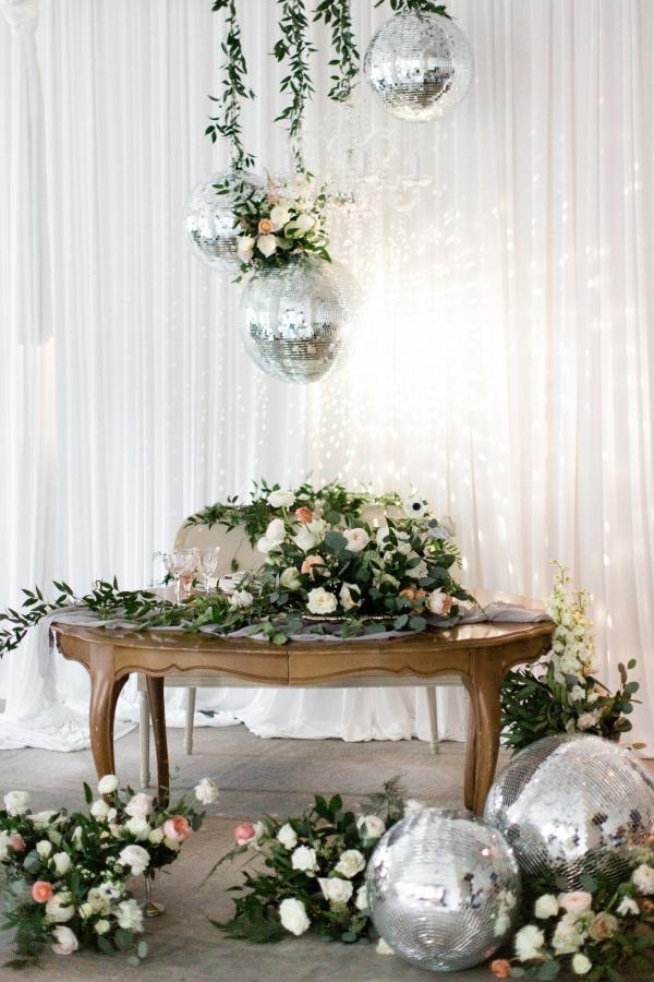 Wedding with Disco Balls
