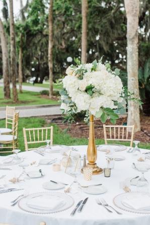 White Wedding Centerpieces