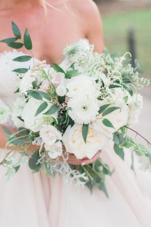 White and Peach Bride Bouquet