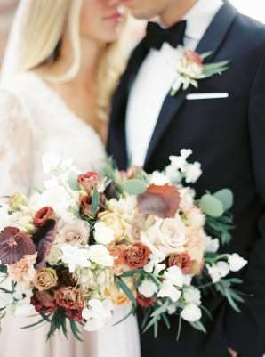 Fall Colored Bride Bouquet