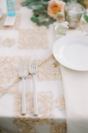 Gilded Wedding Linen