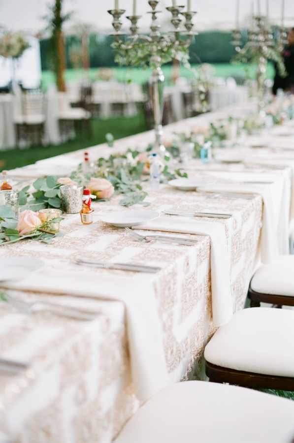 Long Tables for Wedding