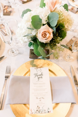 Pink and Gold Wedding Tables