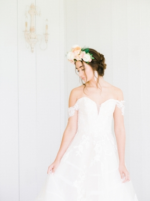 Elegant Bridal Session Inspired by Frida Kahlo Heirloom Rose Photography01