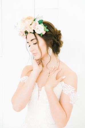 Elegant Bridal Session Inspired by Frida Kahlo Heirloom Rose Photography09