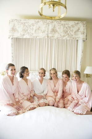 Pink Bridesmaids Robes