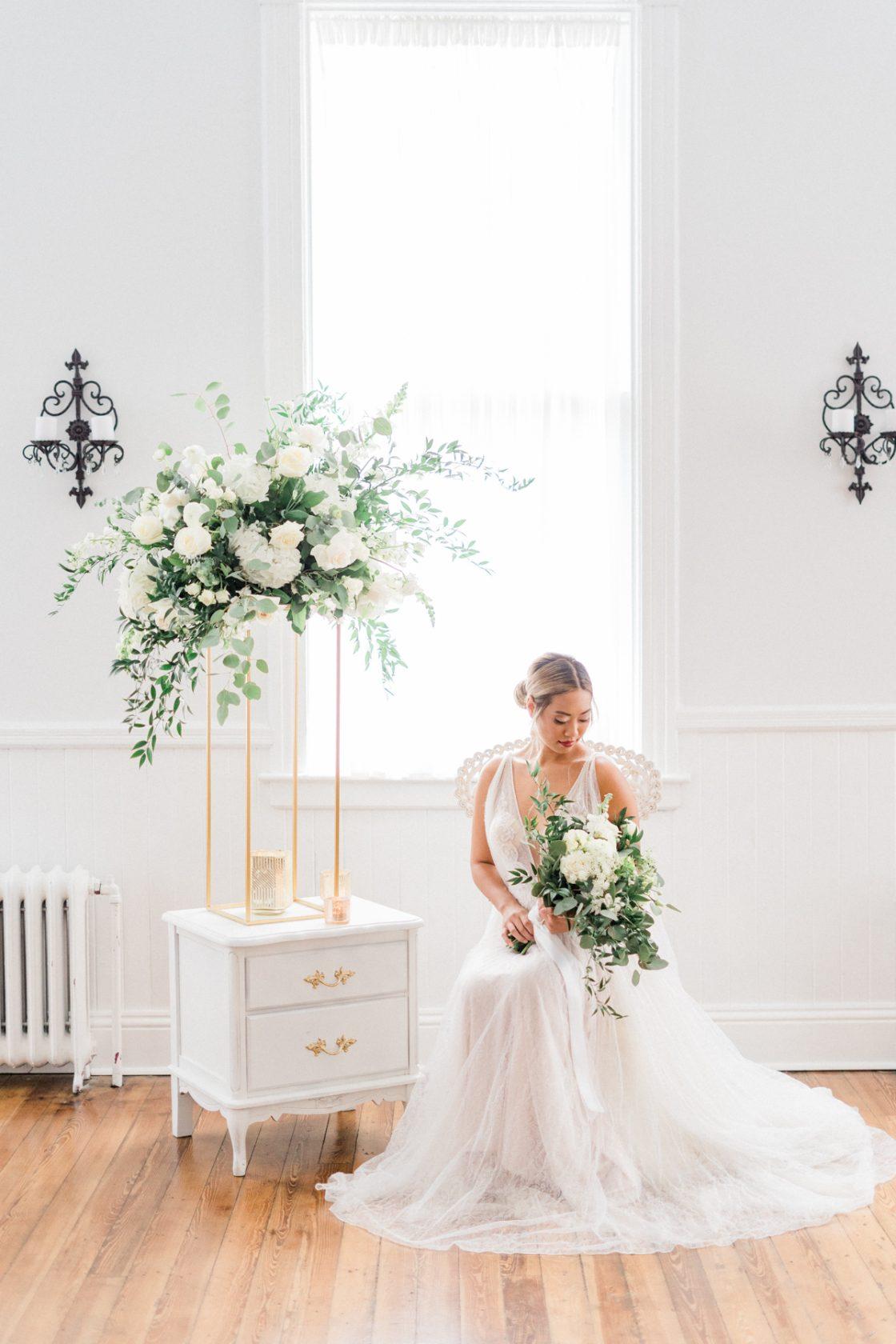 Classic Soft White Wedding Inspiration Flora Bloom Photography27