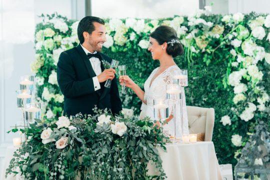 Elegant New Jersey Wedding with Greenery 92