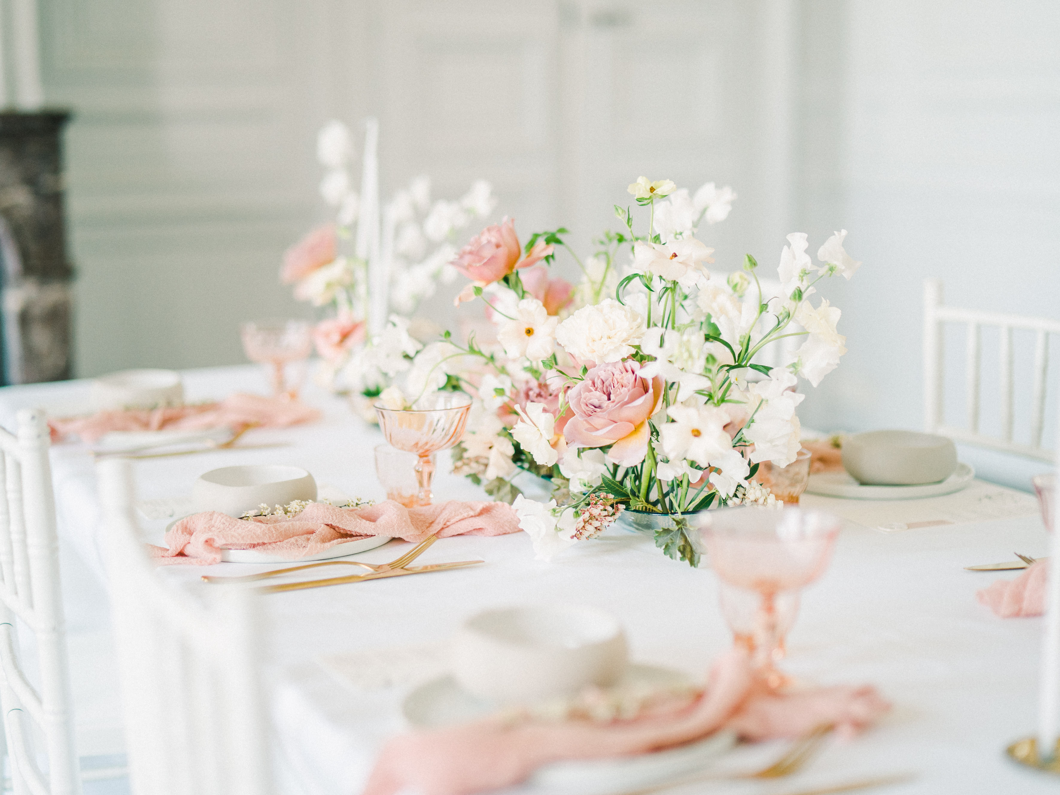 Elegant Whimsical French Chateau Wedding Inspiration Romain Vaucher 14