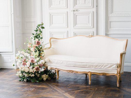 Elegant Whimsical French Chateau Wedding Inspiration Romain Vaucher 23