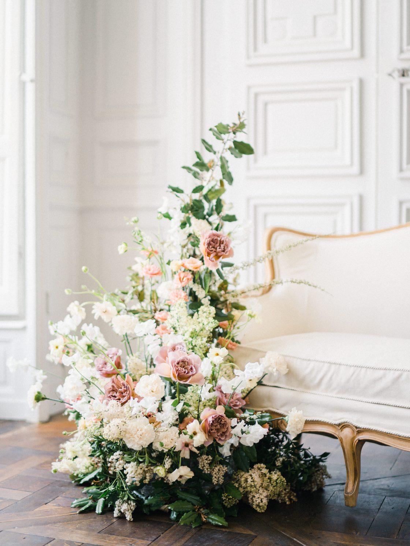 Elegant Whimsical French Chateau Wedding Inspiration Romain Vaucher 25