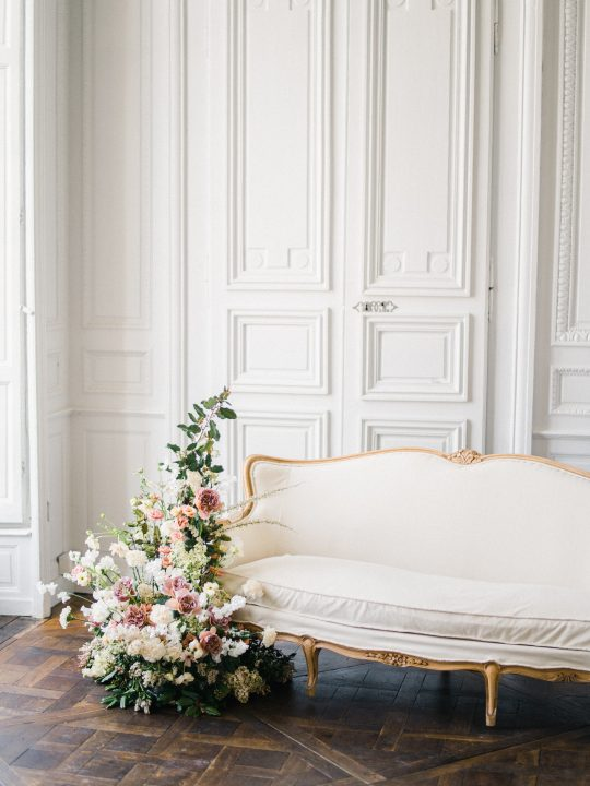 Elegant Whimsical French Chateau Wedding Inspiration Romain Vaucher 26