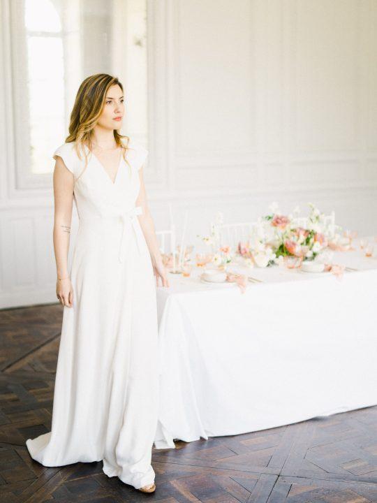 Elegant Whimsical French Chateau Wedding Inspiration Romain Vaucher 31