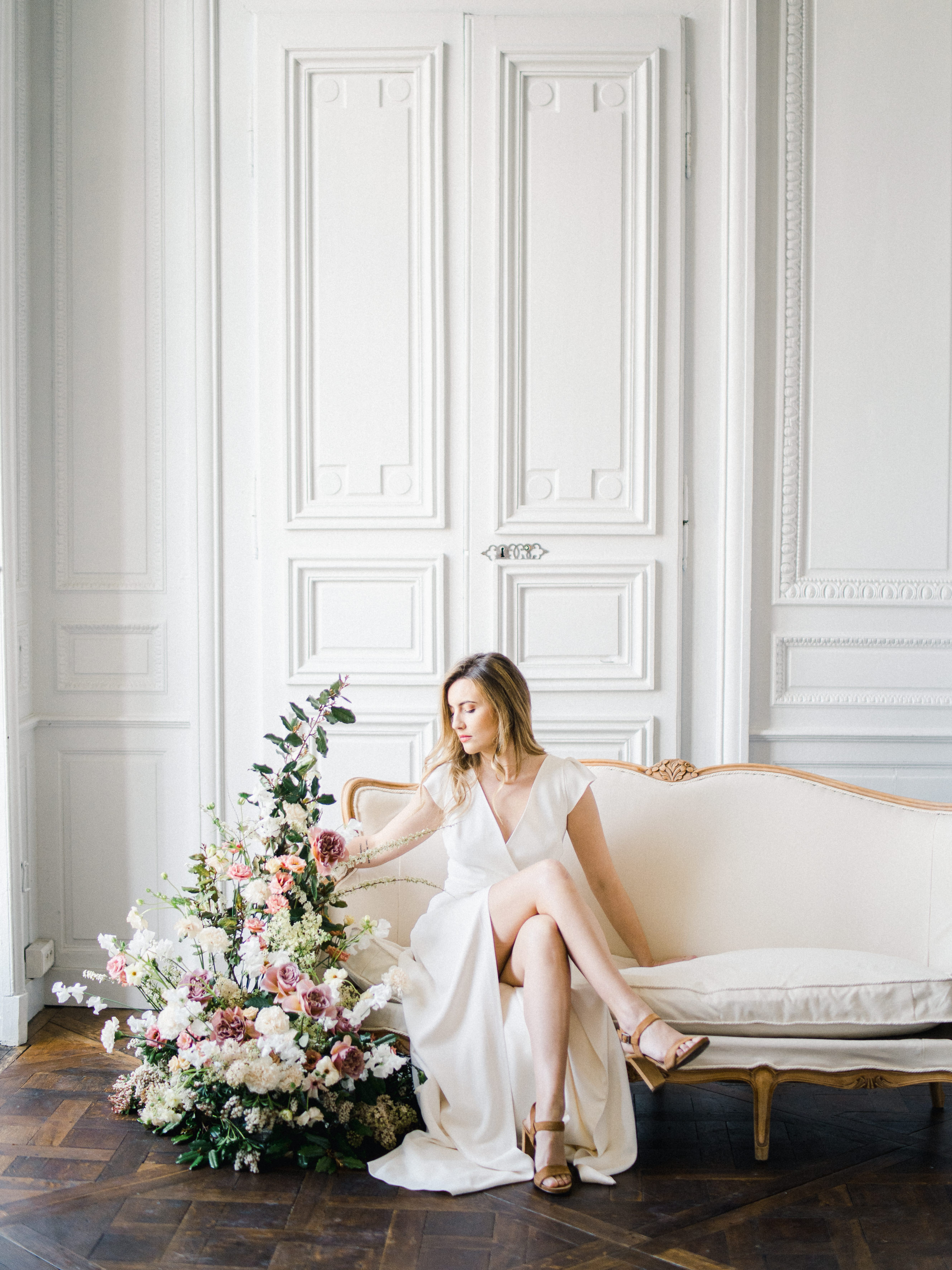 Elegant Whimsical French Chateau Wedding Inspiration Romain Vaucher 32