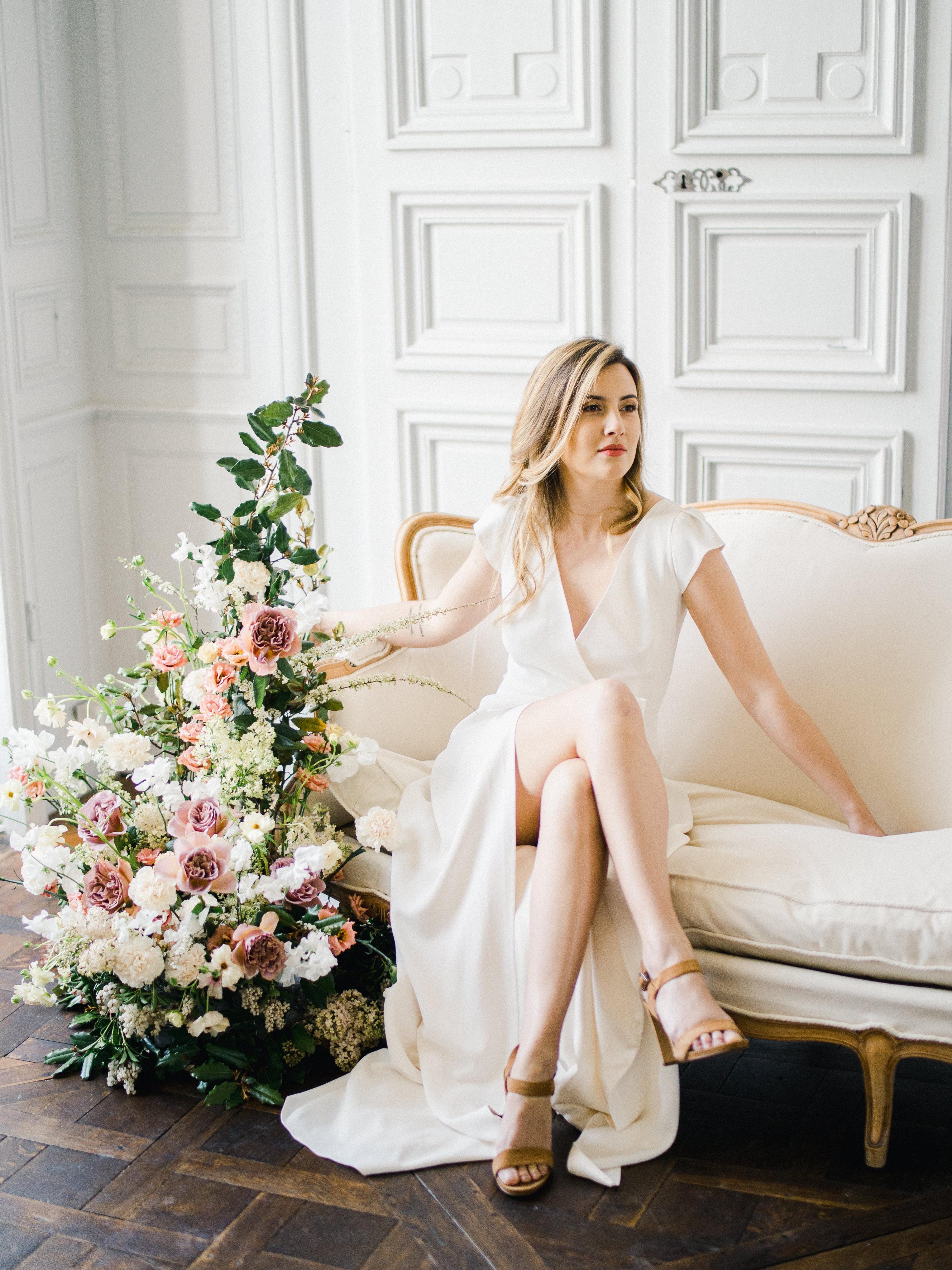 Elegant Whimsical French Chateau Wedding Inspiration Romain Vaucher 33