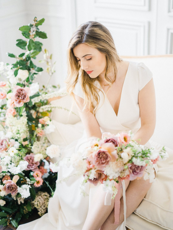 Elegant Whimsical French Chateau Wedding Inspiration Romain Vaucher 34