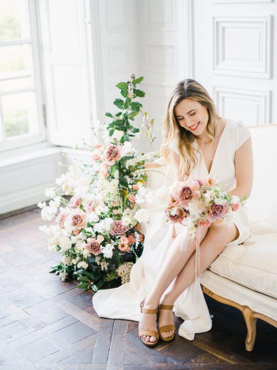 Elegant Whimsical French Chateau Wedding Inspiration Romain Vaucher 35