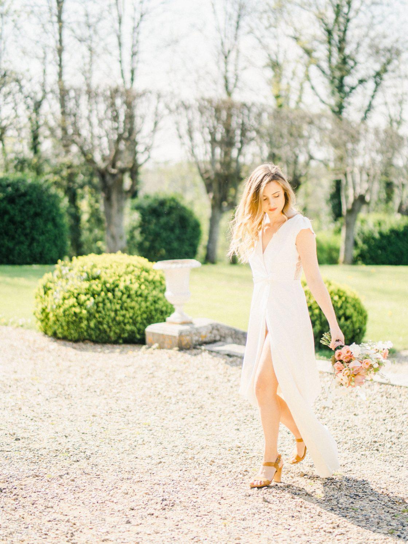 Elegant Whimsical French Chateau Wedding Inspiration Romain Vaucher 45