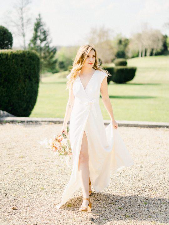 Elegant Whimsical French Chateau Wedding Inspiration Romain Vaucher 58