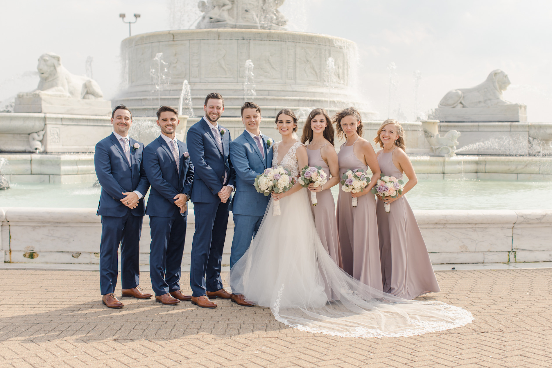Charming Blush and Lavender Detroit Wedding Stephanie Kaslly Photography27