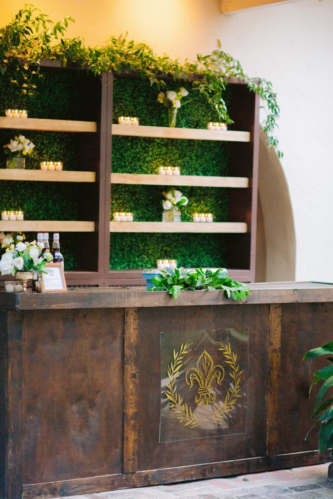 Custom Wood Wedding Bar