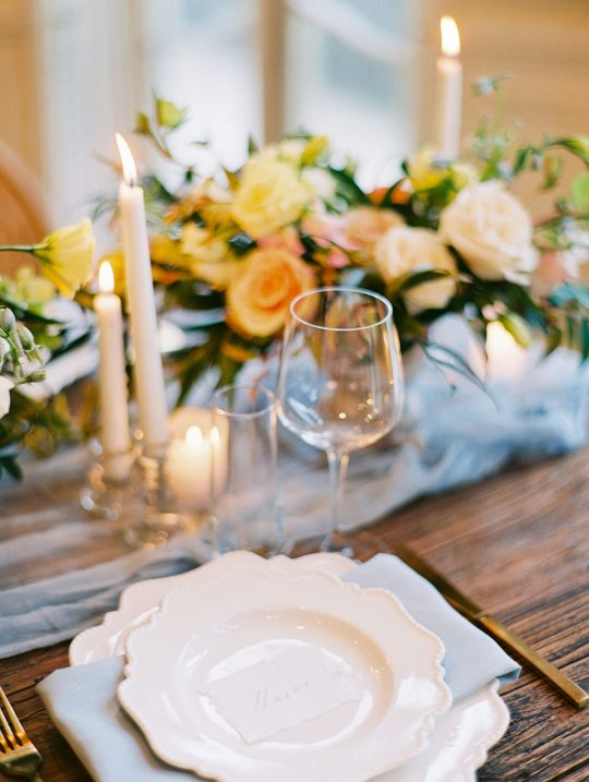 French Inspired Springtime Wedding Tablescape