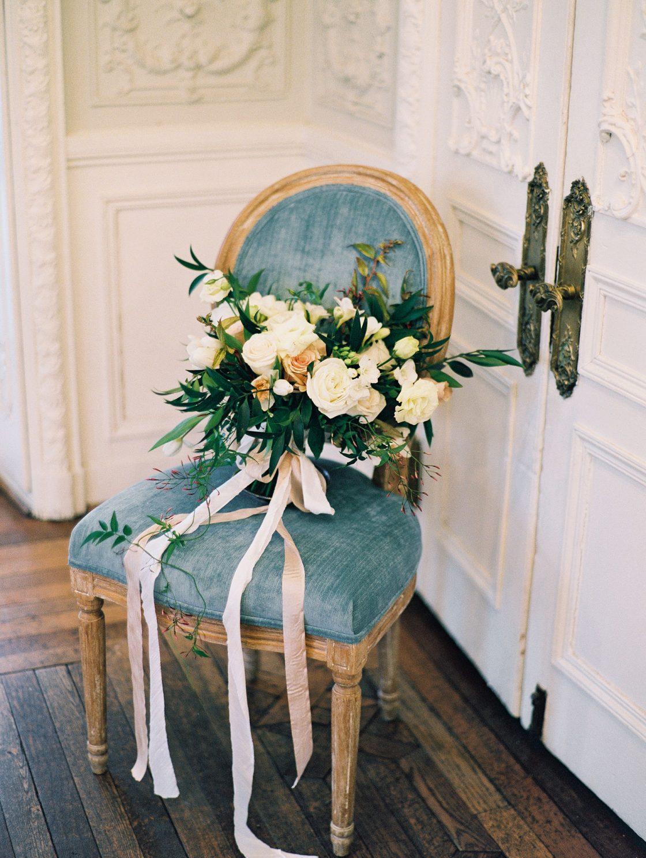 Elegant Romantic Organic Rose Bridal Bouquet Ribbons