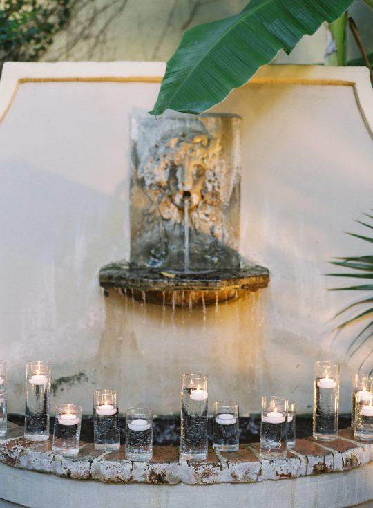 Fountain Candle Wedding Decor