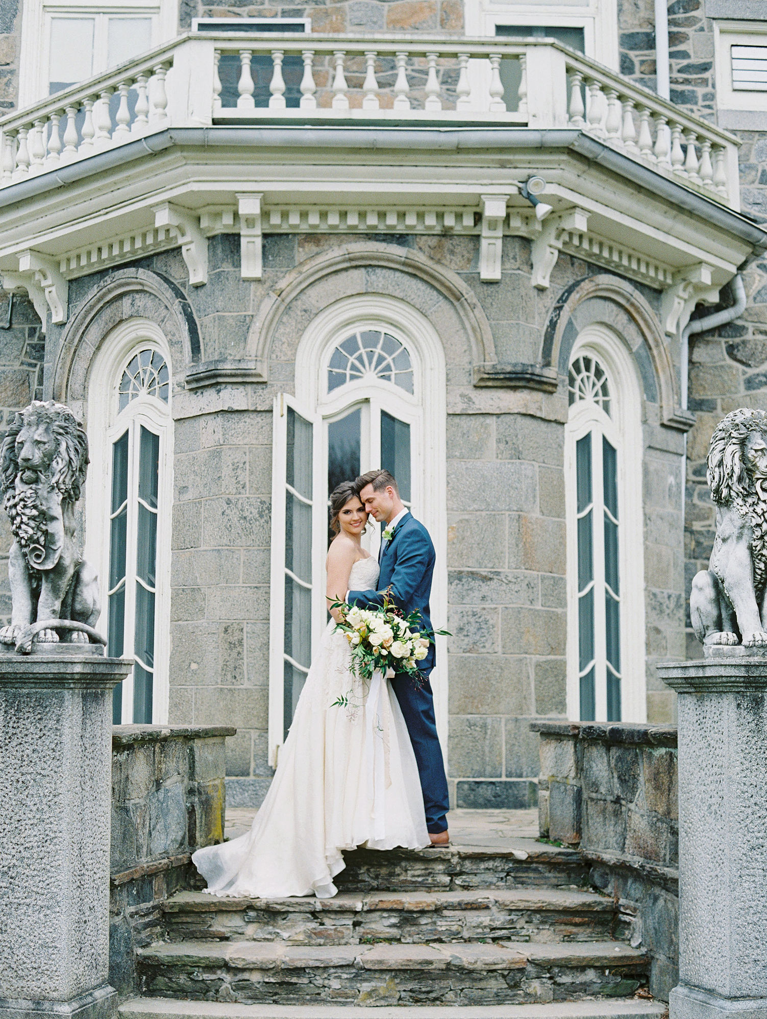 French Castle Wedding Portraits