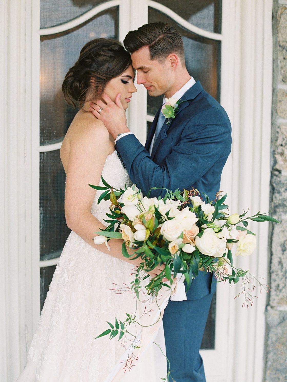 French Inspired Garden Rose Bridal Bouquet