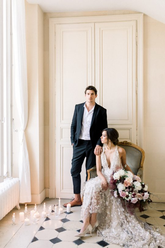 Intimate and Lush Elopement Inspiration in Normandy Alexi Lee Photography22