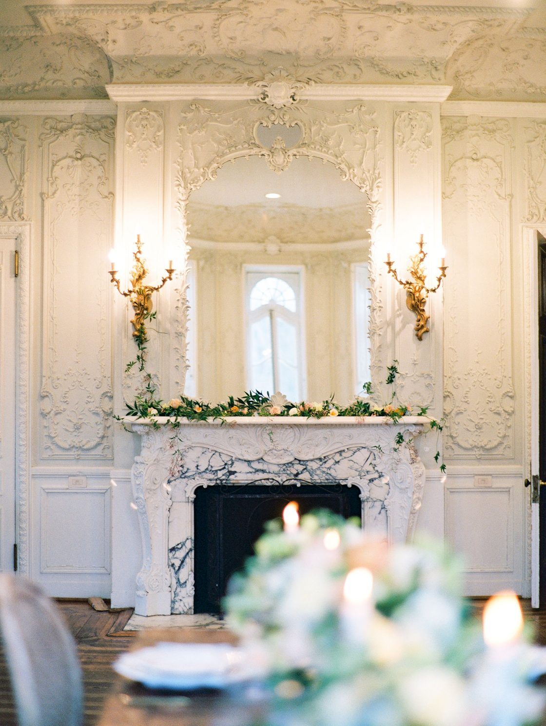 Romantic French Ballroom Wedding Reception