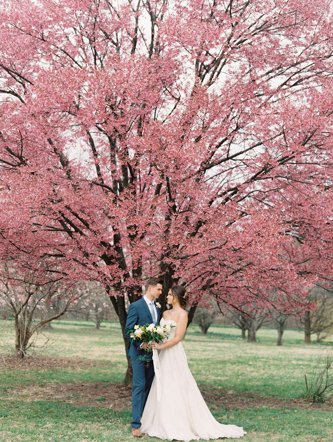 Springtime Outdoor Wedding Portraits